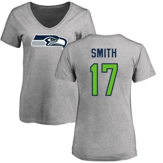 Rodney Smith Seattle Seahawks Women's Pro Line Name & Number Logo Slim Fit T-Shirt - Ash