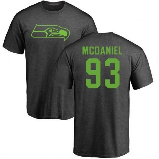 Tony McDaniel Seattle Seahawks Men's Pro Line by Branded One Color T-Shirt - Ash
